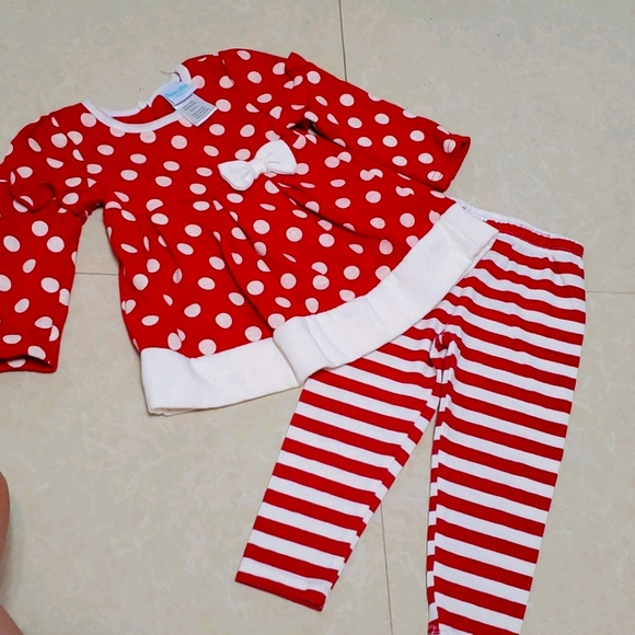 2 piece red outfit 18 months